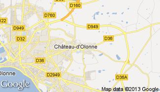 Plan de Château-d'Olonne
