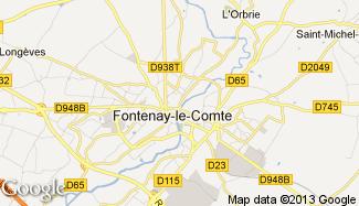 Plan de Fontenay-le-Comte