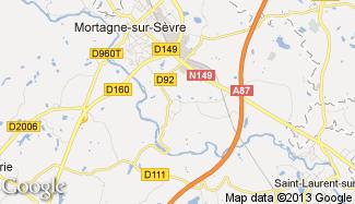 Plan de Mortagne-sur-Sèvre