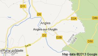 Plan de Angles-sur-l'Anglin