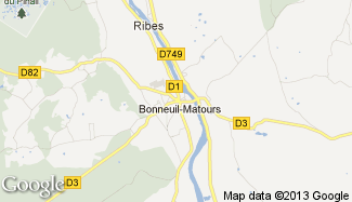 Plan de Bonneuil-Matours