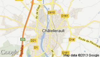 Plan de Châtellerault
