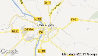 Plan de Chauvigny