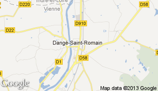 Plan de Dangé-Saint-Romain