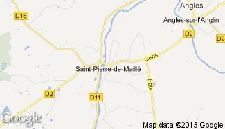 Plan de Saint-Pierre-de-Maillé