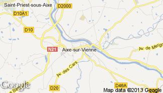 Plan de Aixe-sur-Vienne