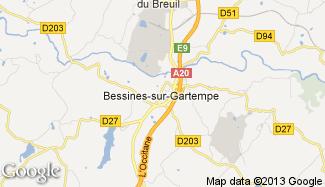 Plan de Bessines-sur-Gartempe