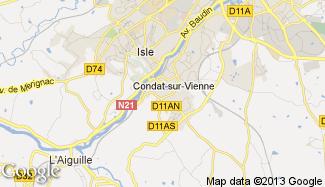 Plan de Condat-sur-Vienne