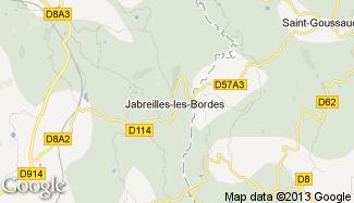 Plan de Jabreilles-les-Bordes