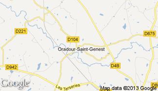 Plan de Oradour-Saint-Genest