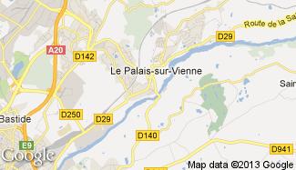 Plan de Le Palais-sur-Vienne
