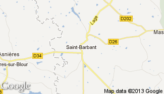 Plan de Saint-Barbant