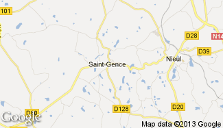 Plan de Saint-Gence