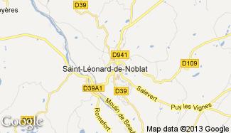 Plan de Saint-Léonard-de-Noblat