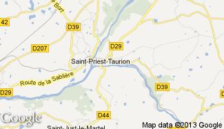 Plan de Saint-Priest-Taurion