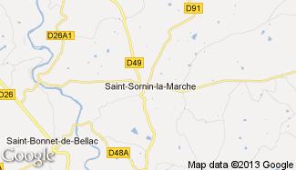 Plan de Saint-Sornin-la-Marche