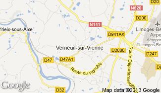 Plan de Verneuil-sur-Vienne