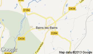 Plan de Bains-les-Bains