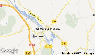 Plan de Châtel-sur-Moselle