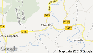 Plan de Châtillon-sur-Saône