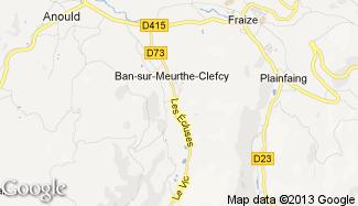Plan de Ban-sur-Meurthe-Clefcy