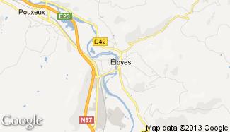 Plan de Éloyes