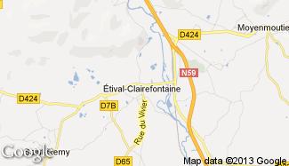 Plan de Étival-Clairefontaine