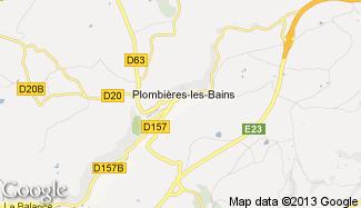 Plan de Plombières-les-Bains