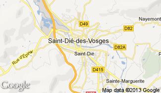 Plan de Saint-Dié-des-Vosges