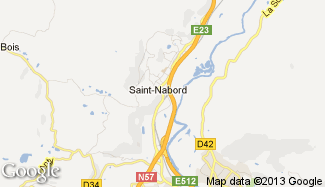 Plan de Saint-Nabord