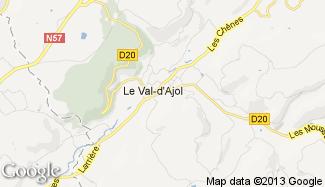 Plan de Le Val-d'Ajol