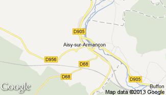 Plan de Aisy-sur-Armançon