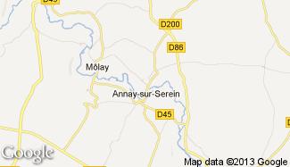 Plan de Annay-sur-Serein