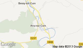 Plan de Arcy-sur-Cure