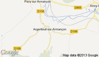 Plan de Argenteuil-sur-Armançon