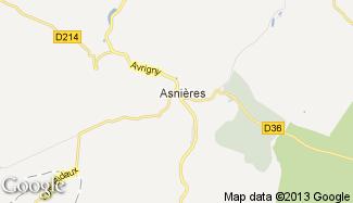 Plan de Asnières-sous-Bois