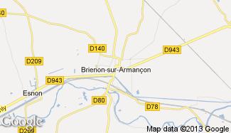 Plan de Brienon-sur-Armançon