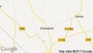 Plan de Champlost