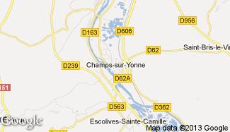 Plan de Champs-sur-Yonne