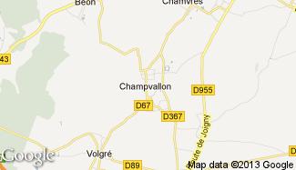 Plan de Champvallon