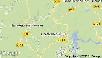 Plan de Chastellux-sur-Cure
