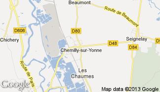 Plan de Chemilly-sur-Yonne