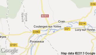 Plan de Coulanges-sur-Yonne