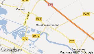 Plan de Courlon-sur-Yonne