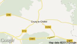 Plan de Cruzy-le-Châtel