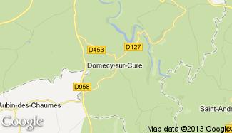 Plan de Domecy-sur-Cure