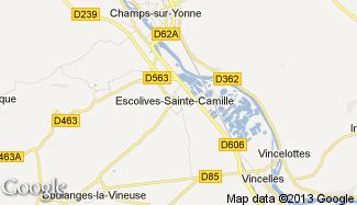 Plan de Escolives-Sainte-Camille