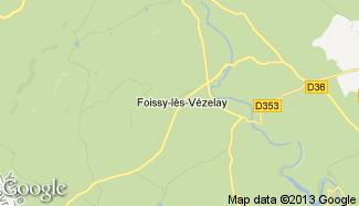 Plan de Foissy-lès-Vézelay
