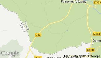 Plan de Fontenay-près-Vézelay