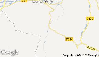 Plan de Lichères-sur-Yonne